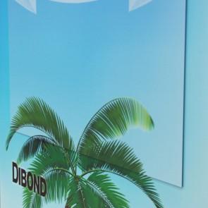 DIBOND® mit 4-farbigen Digitaldruck, Preis für 0,5 QM